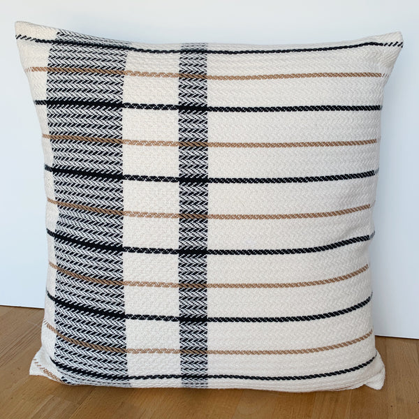 offset plaid pillow