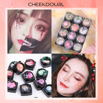 CHEEKDOURL 12 Colors Multiple Shapes Self-adhesive Body Face Glitter Art Glitter Sequins For Fun Themed Party, No Need Extra Glue