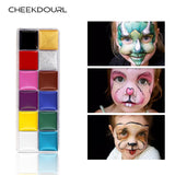 CHEEKDOURL 12 COLOURS BODY AND FACE PAINTING
