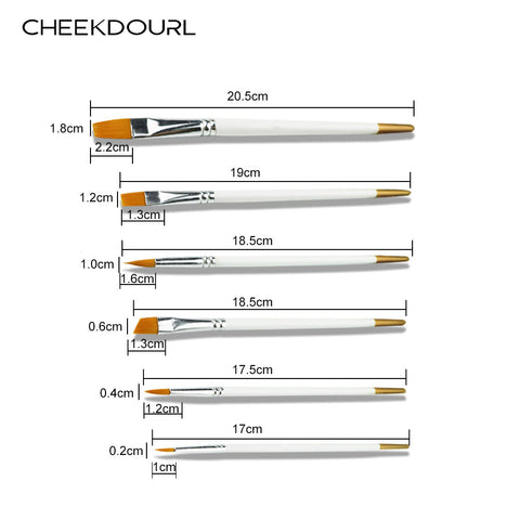 CHEEKDOURL  6 PCS PAINT BRUSHES BRUSH SET