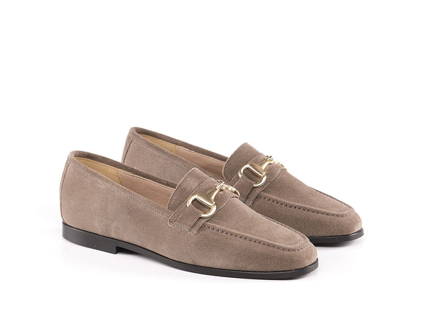 Mocassino in pelle scamosciata - Carolina - beige