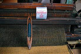 Loom showing Harris Tweed being woven