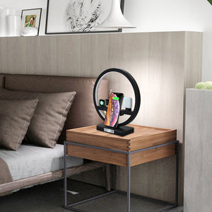 Fast Charging 4 in 1 Bedside Lamp Wireless Charger Bracket