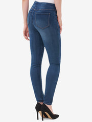 Tribal Pull On Skinny Jegging Retro Blue