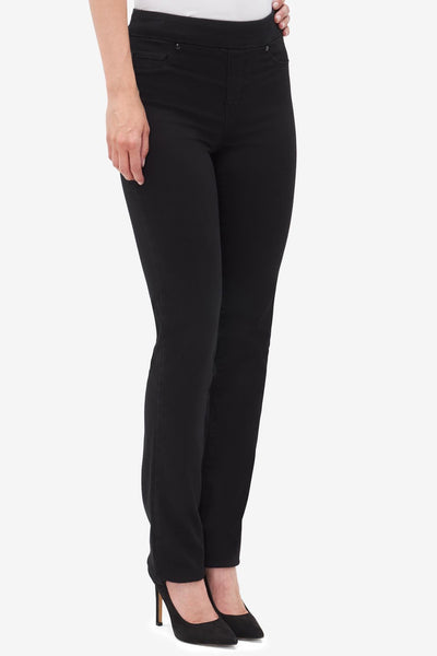 Tribal Pull On Straight Leg Jean Black