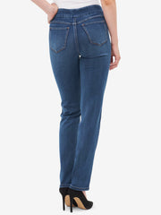 Tribal Pull On Straight Leg Jean Retro Blue