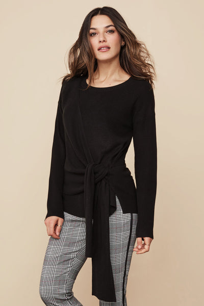Wrap Front Pullover Sweater