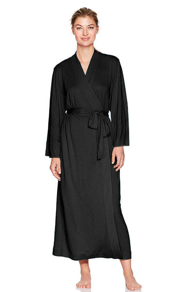 Black Wrap Robe
