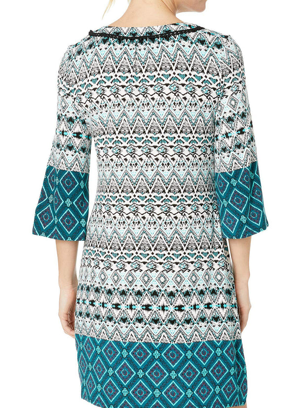 Border Print Dress - Final Sale