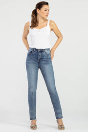 Brooke High Rise Slim Jean Blue Dusk