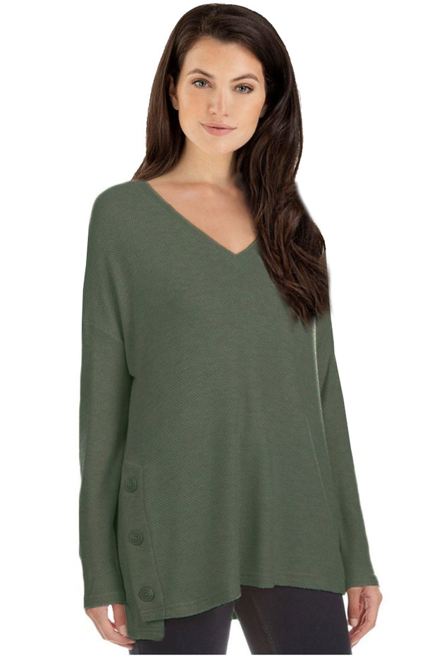 Textured Tunic w/Button Sides