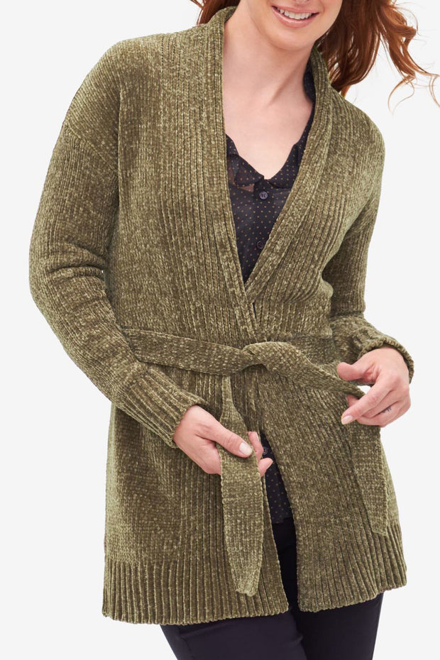 Chenille Cardigan - Final Sale