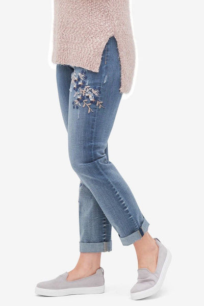 Tribal Embroidered Boyfriend Jean - Final Sale