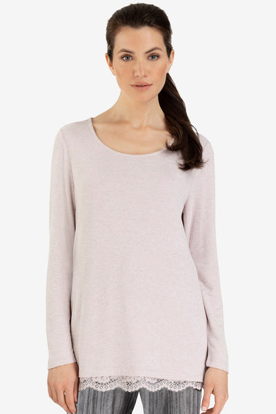 Lace Hem Tunic Sweater
