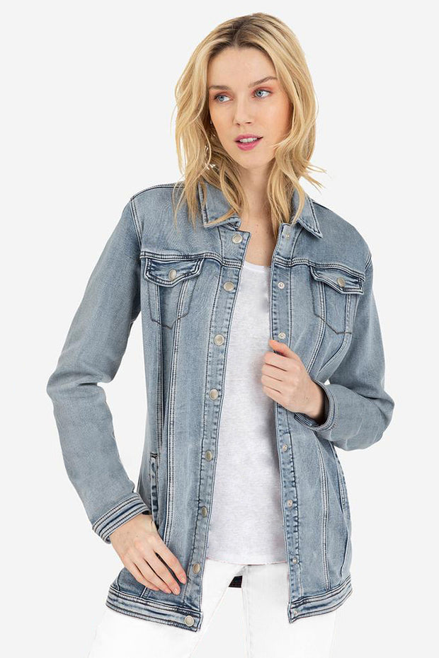 Maxi Denim Jacket Desert Blue