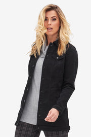 Maxi Denim Jacket Black