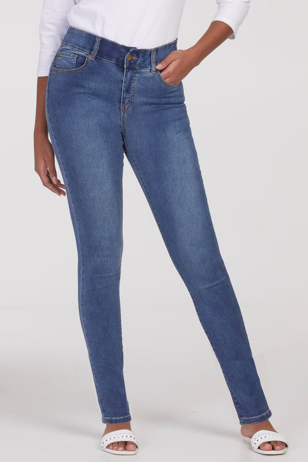 Sophia Curvy Jegging Retro Blue