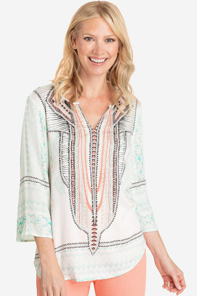 Southwest Print Top - Final Sale