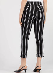 Striped Cuffed Capri