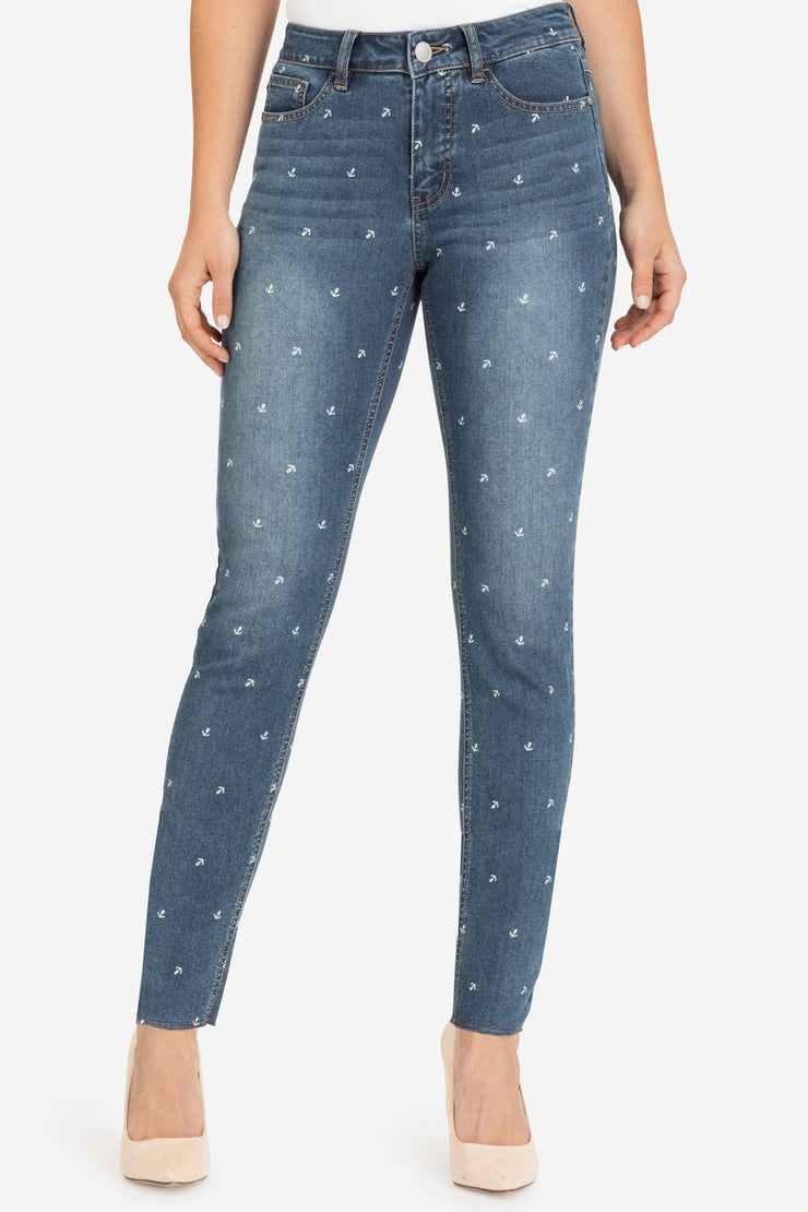 Anchor Print Ankle Jegging