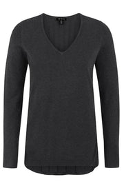 Fan Back V-Neck Sweater