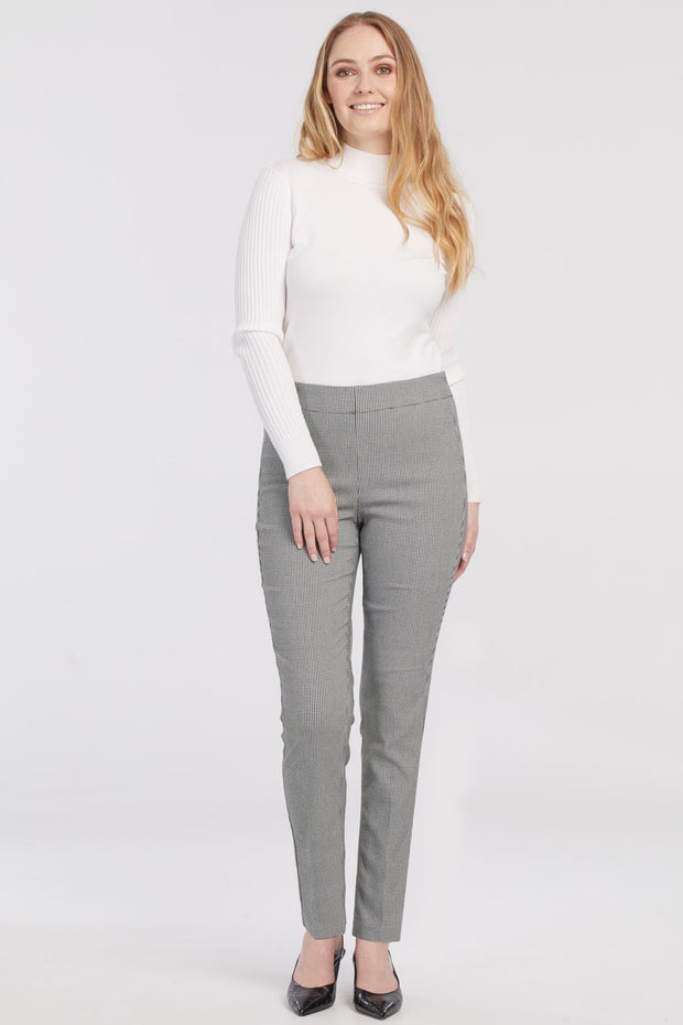 Houndstooth Pull On Pant