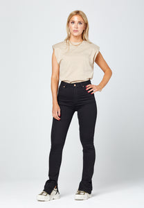 'O-MORE' JEANS WITH SLIT