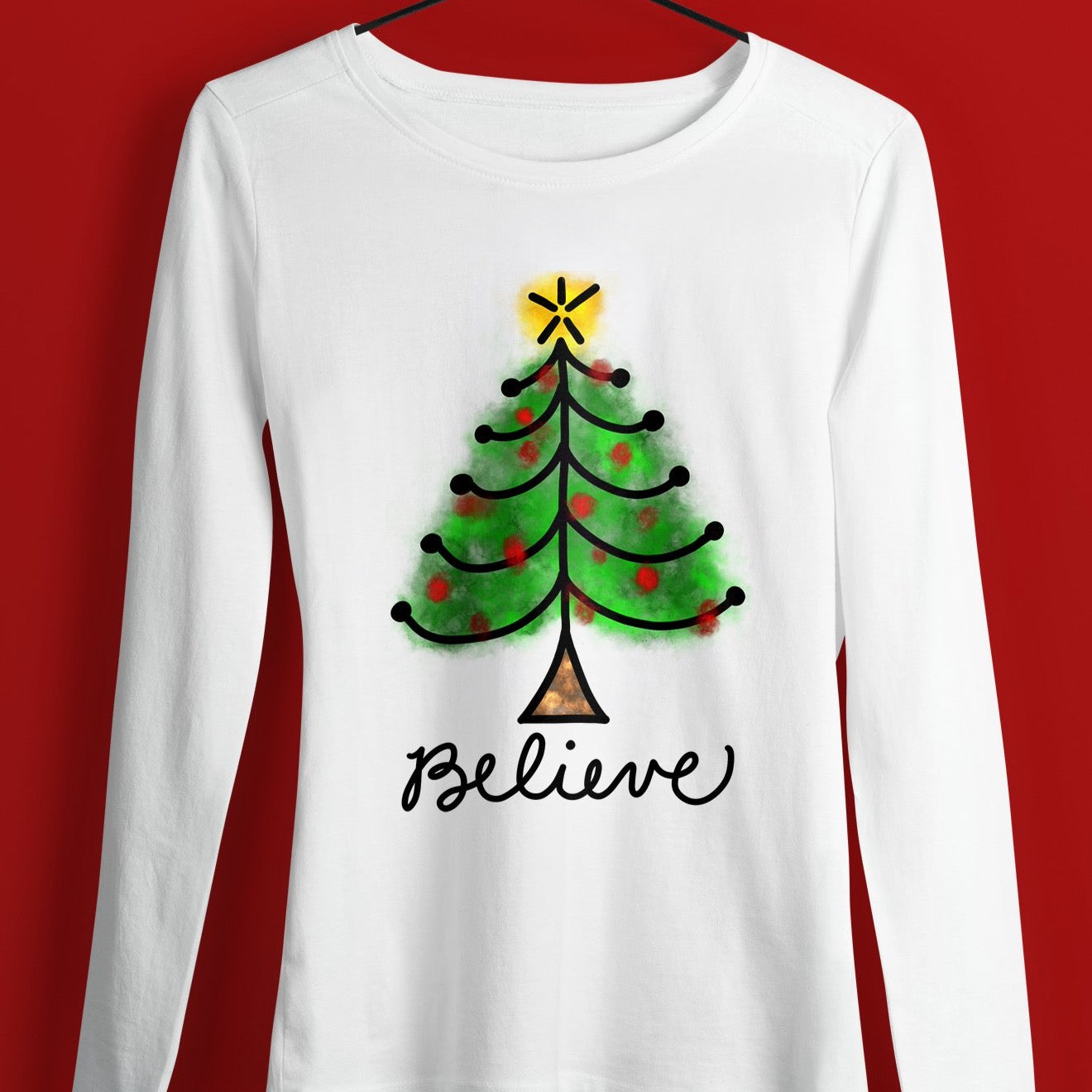 Christmas Shirt Sublimation Design, Christmas Sublimation Digital Download, Sublimation Christmas Tree Design, Christmas Tree Sublimation Download