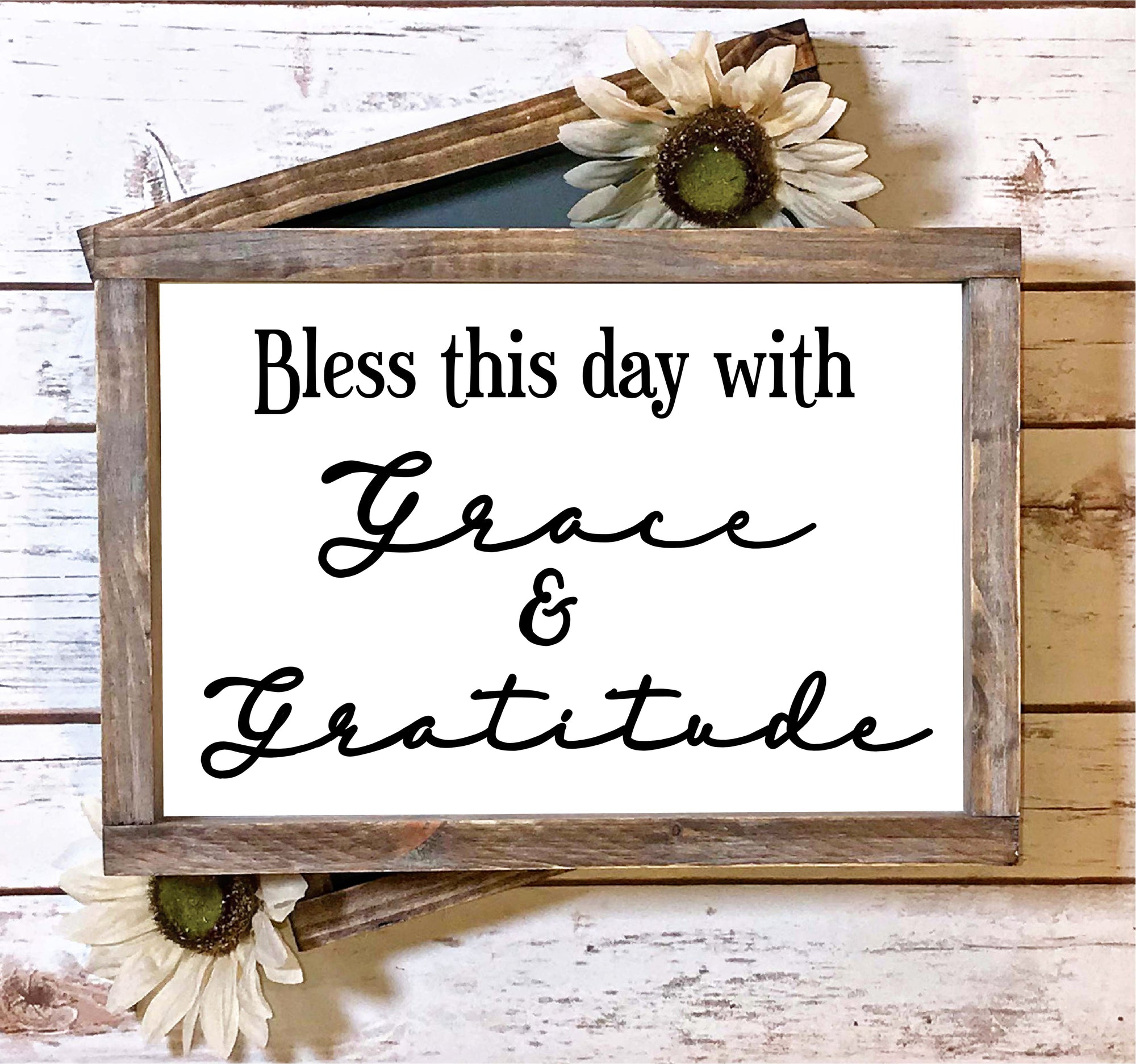 Bless this Day with Grace and Gratitude SVG File, Blessing SVG, Grateful SVG File, Wood Sign Saying Svg, Dining Room Svg, Wall Decor Svg