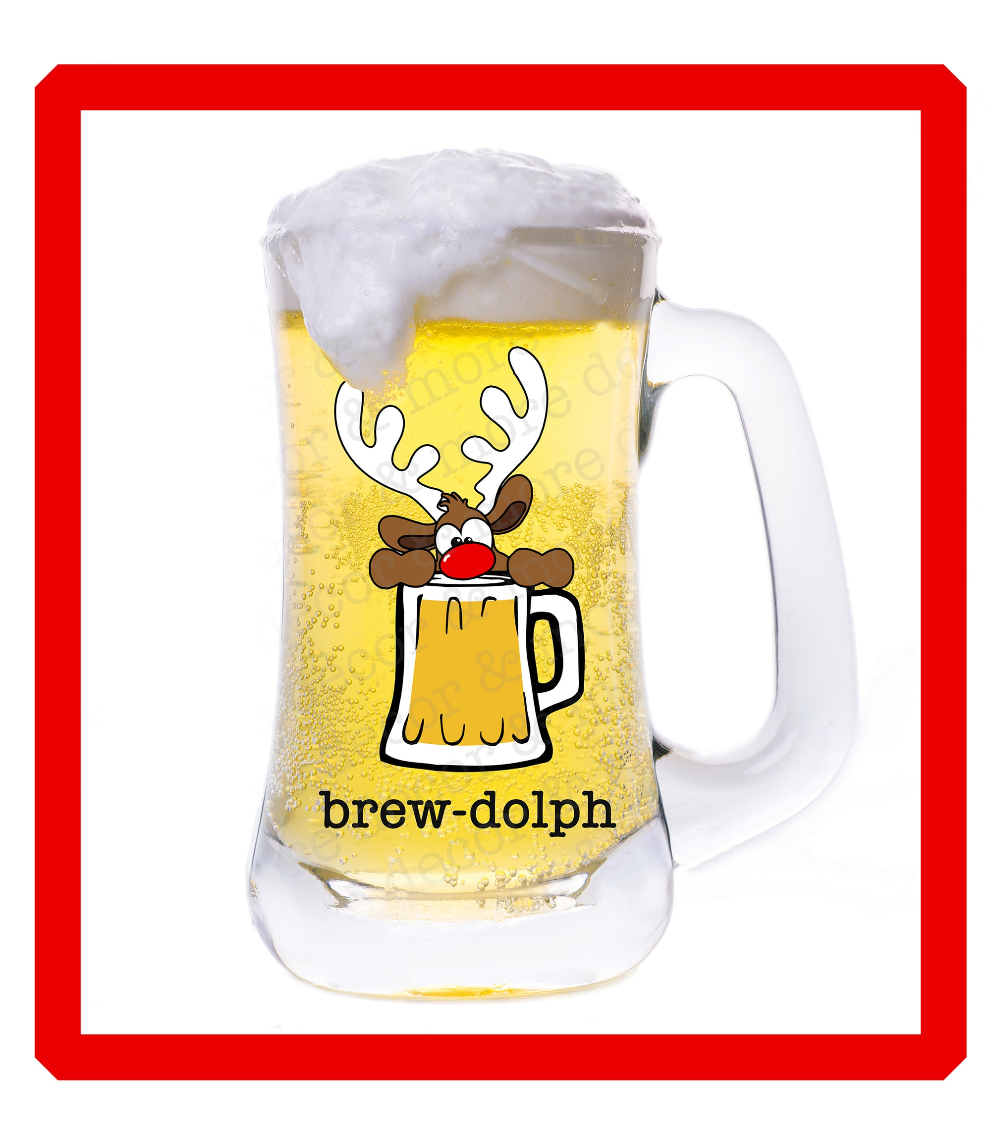 Reindeer SVG File, Funny Christmas SVG File, Brew-dolph SVG File, Beer Mug Svg Files for Cricut