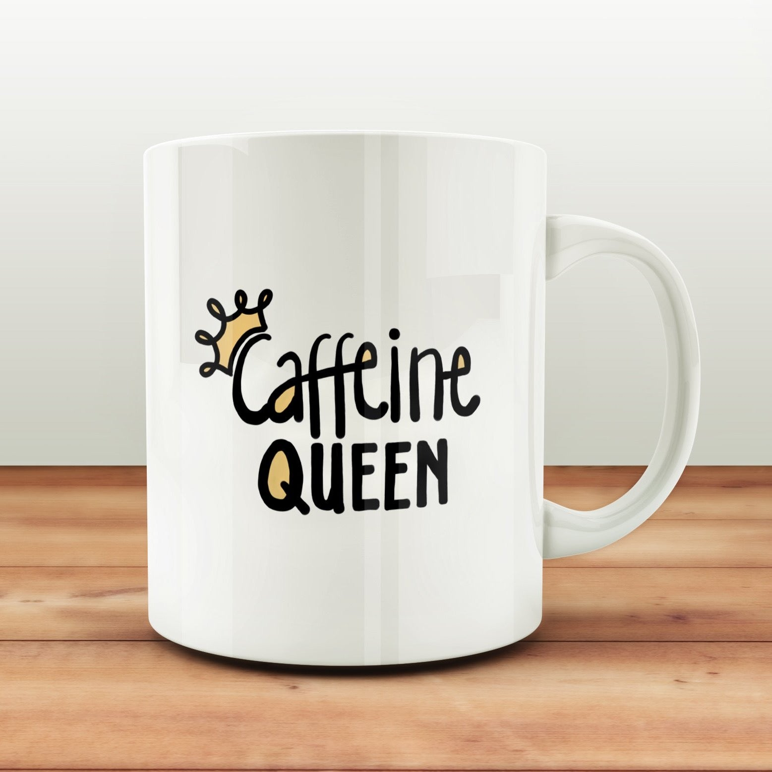 Funny Coffee SVG File, Funny Coffee Cup SVG, Vinyl Sayings Coffee, Caffeine Queen SVG File, Coffee Mug Decal Svg, Coffee Shirt Svg