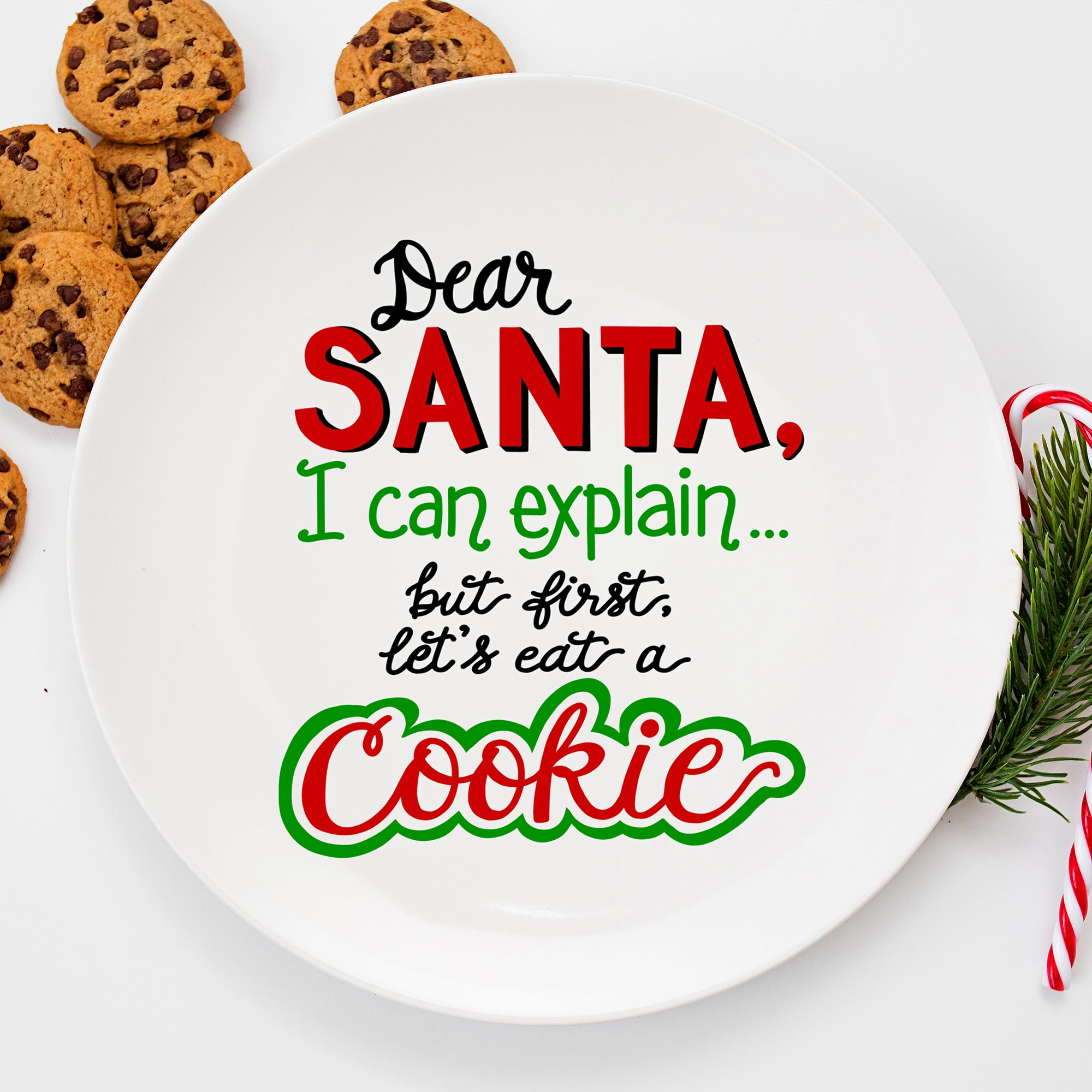 Funny Christmas SVG File, Christmas Shirt SVG, Cookie Plate SVG, I Can Explain SVG, Santa's Cookies SVG Cut File