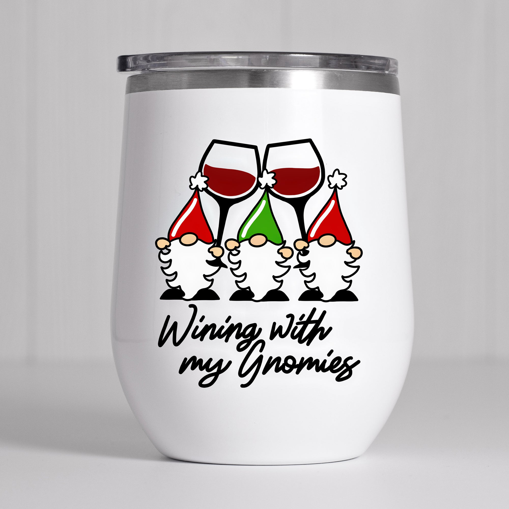 Funny Christmas Wine Glass SVG File, Christmas Gnome Wine Glass SVG, Christmas SVG File, Wine Glass Saying SVG