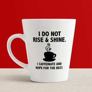 Funny Coffee Quote SVG File, I Do Not Rise and Shine Coffee SVG, Caffeinate and Hope for the Best SVG, Funny Coffee Mug SVG File, Coffee Cup SVG Cut File