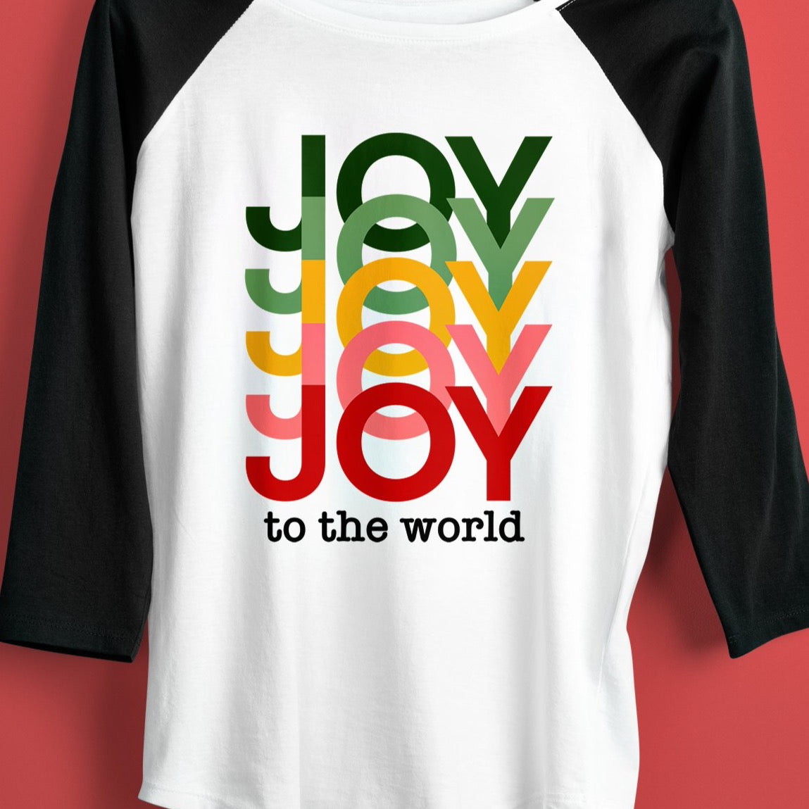 JOY CHRISTMAS SVG, Joy to the World Svg File, Bright Colored Holiday Joy Svg File, Colorful Joy to the World Shirt Svg, Rainbow Joy Svg