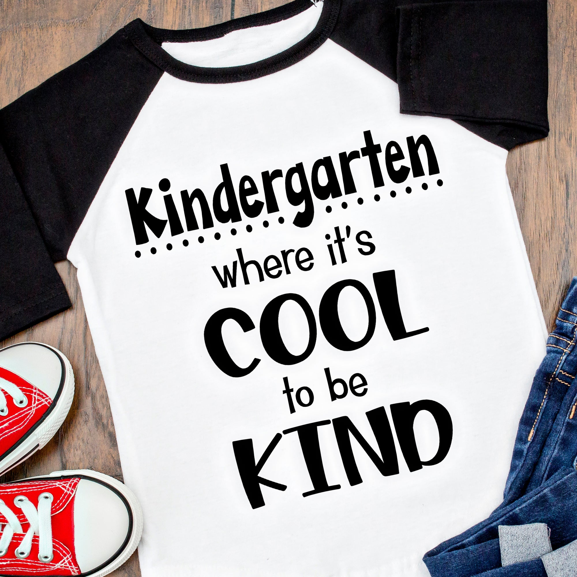 Kindergarten SVG, First Day of Kindergarten SVG File, Kindergarten Shirt SVG, Kindergarten Cool to be KInd SVG, Kindergarten Saying SVG