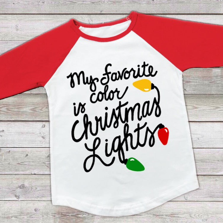 Funny Christmas SVG, My Favorite Color is Christmas Lights SVG, Funny Christmas SVG Files for Cricut, Funny Christmas Saying Svg