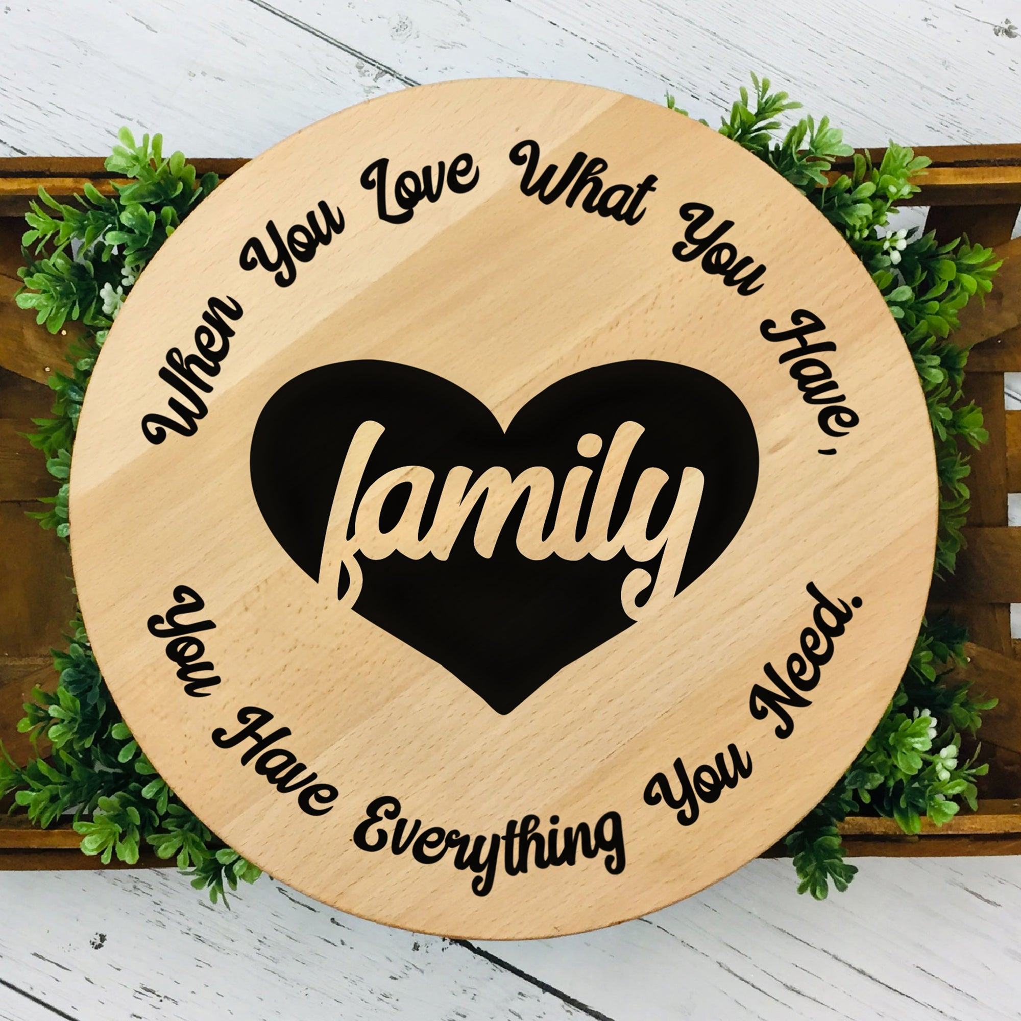 Family Saying SVG File, Family Sign SVG Saying, Family Quote Cut File, Family SVG for Round Sign