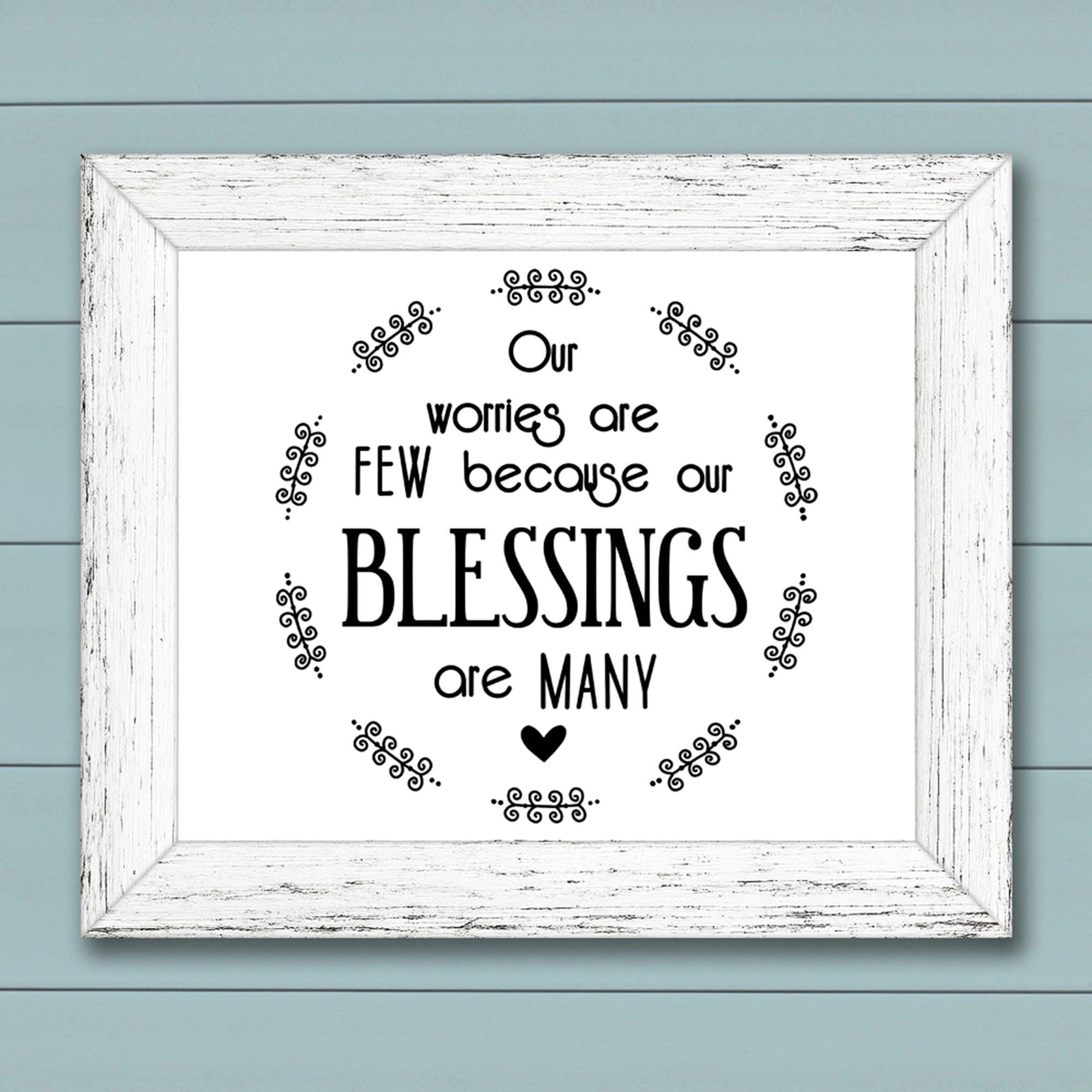 SVG File for Round Sign, Blessings Quote SVG, Rond Inspirational Quote SVG, Wood Sign Saying SVG, Rustic Sign SVG File