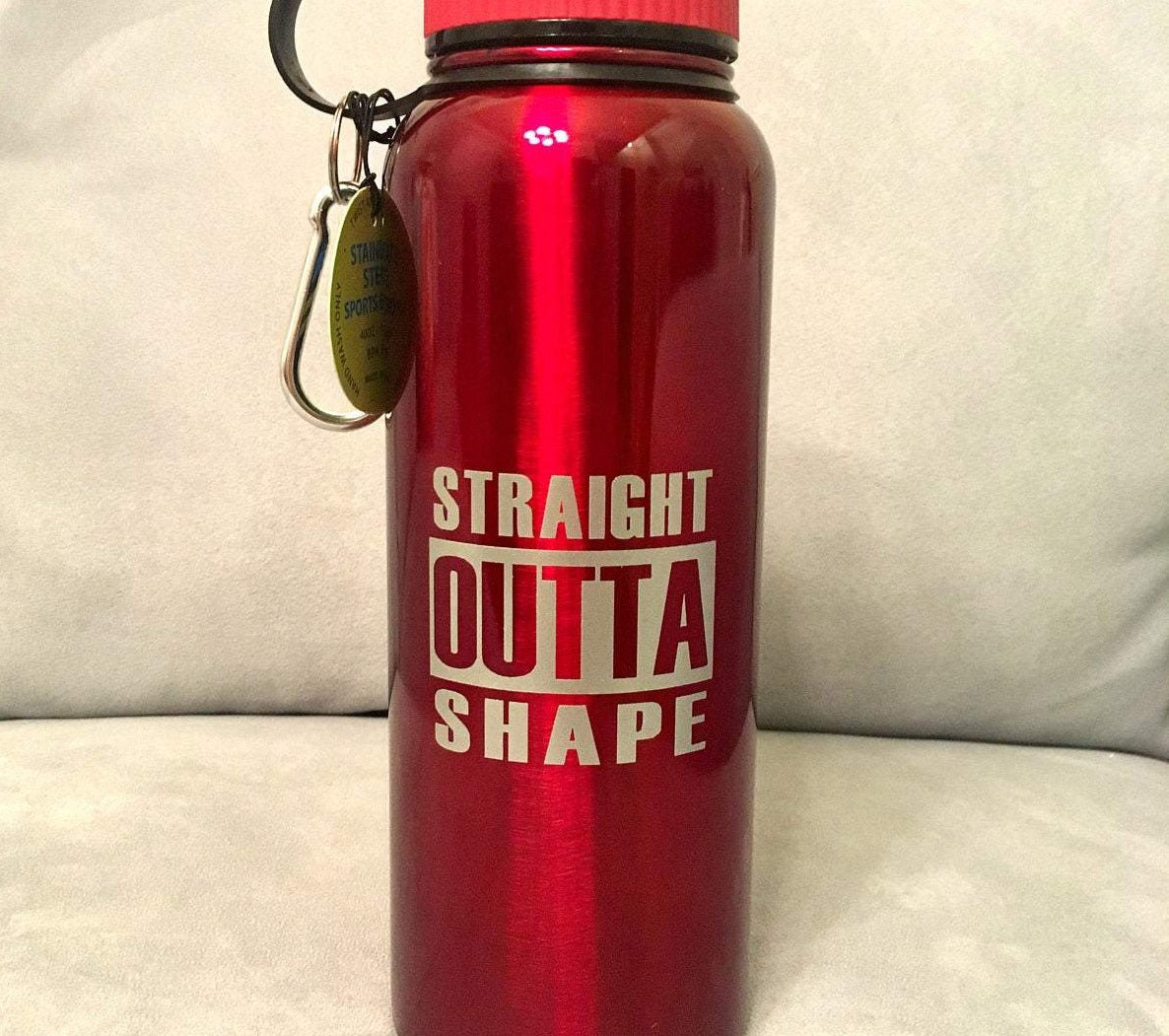 Straight Outta Shape Water Bottle SVG, SVG File for Water Bottle, Yeti, or other Tumbler, Funny Water Bottle SVG, Water Bottle Decal, Cricut