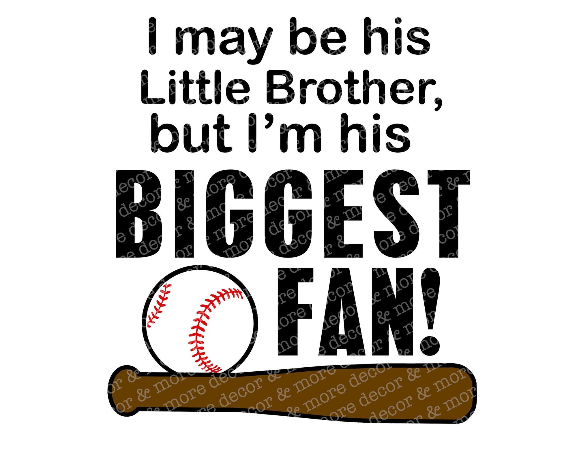 BASEBALL BROTHER SVG. Baseball Brother Svg file. He'll be the cutest Baseball Brother at the game in a baseball brother shirt with this Svg!