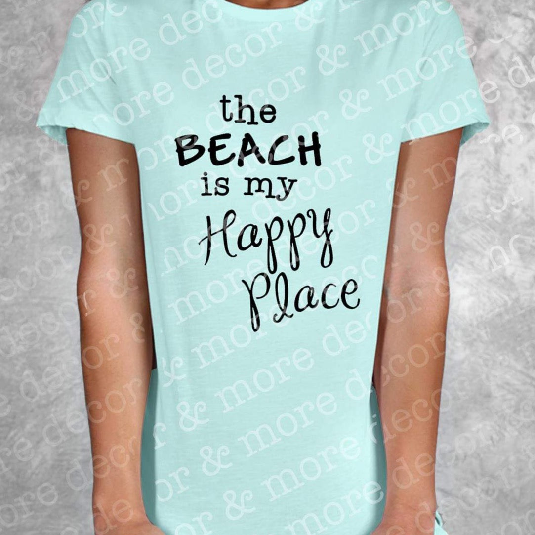 Beach is My Happy Place SVG File, Beach Saying SVG Cut File, Beach Quote SVG, Beach Shirt SVG, Beach Bag SVG