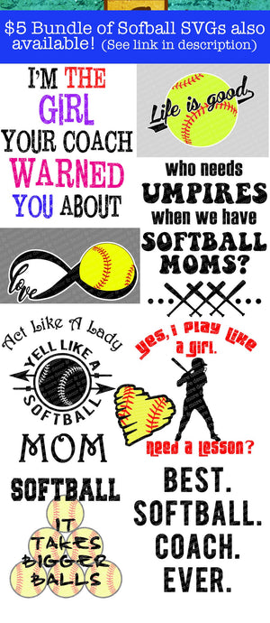 Softball Mom SVG File, Softball SVG File, Svg Files for Cricut, SVG
