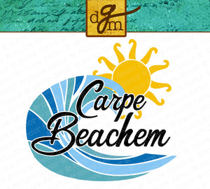 Funny Beach SVG File, Carpe Beachem Beach Saying SVG, Funny Beach Shirt SVG File, Funny Beach Quote SVG File, Vacation Shirt SVG, Beach Trip Cut File