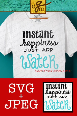 Beach SVG File, Just Add Water SVG File, Summer SVG File, Beach Shirt Svg, Beach Bag Svg, Svg Files for Cricut, Svg Sayings, Commercial Use