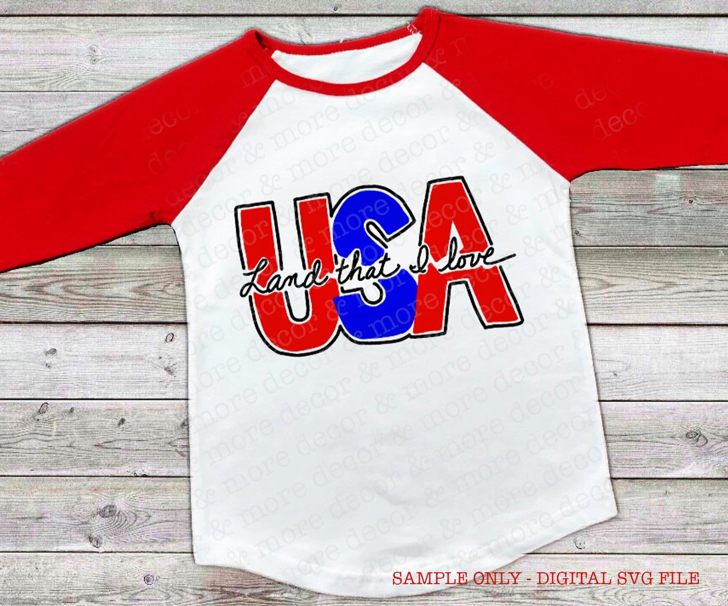 USA Land that I Love SVG File. Hand Lettered Fourth of July SVG File. Patriotic Svg File for Fourth of July Shirt. Svg Files for Cricut. Svg