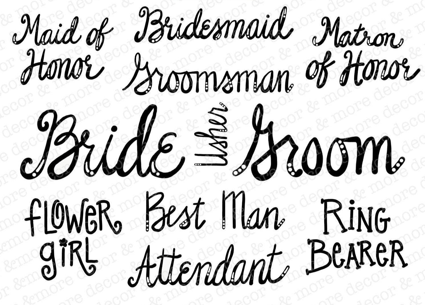 SVG Bundle Wedding Party, Wedding Party SVG Cut Files, DIY Wedding Party Gifts, Bridal Party Svg Bundle, Bridesmaid Gift, Groomsman Gift