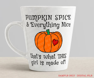 PUMPKIN SPICE SVG, Fall SVG File, Pumpkin Spice SVG, Coffee Svg File, Pumpkin Spice Shirt, Pumpkin Spice Mug, or Decal
