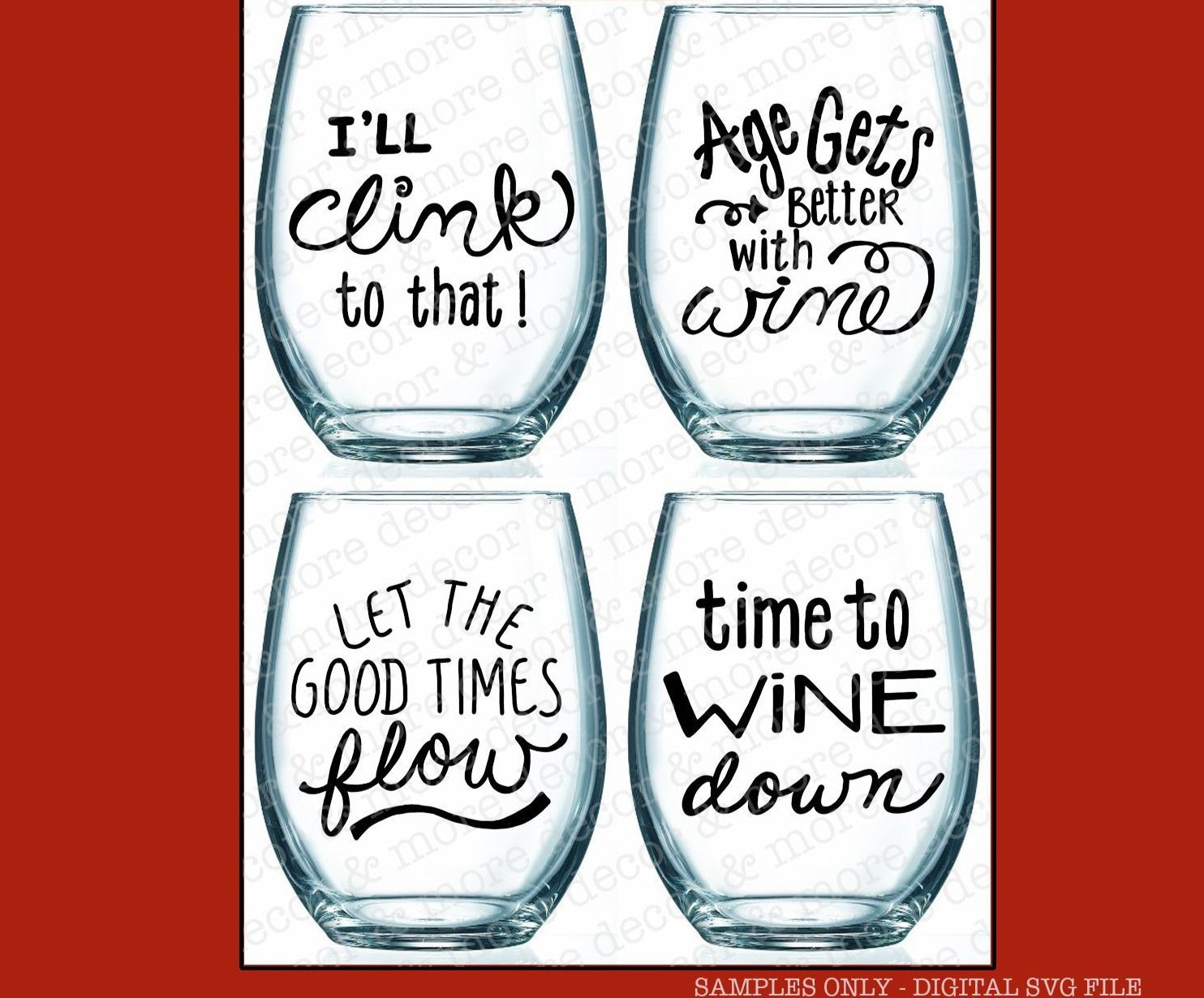 SVG Bundle Wine Glass Sayings, DIY Wine Glass Decal SVG, Wine Glass Quotes Svg Cut Files, Wine Quote Svg Files, Svg Files for Cricut, Svg