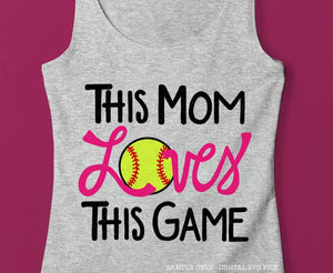 Softball Mom Shirt SVG File, Vinyl Sayings Softball Mom, Softball Mom SVG Files for Cricut, Unique Softball Mom Quote SVG, Commercial Use Softball